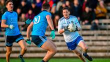 Conor McManus on the attack for Monaghan against Dublin in Clones at the weekend. Photo: Philip Fitzpatrick/Sportsfile