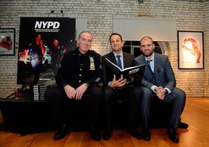 10 Dec 2018; l-r; Det. Sgt. Johnny Moynihan (NYPD Joint Terrorist Task Force), Taoiseach Leo Varadkar, photographer Mark Condren and his daughter Emma, 7.  Taoiseach Leo Varadkar officially launches photographer Mark Condren's photo book 'NYPD' - Behind the scenes with the men and women of the New York City Police Department.  Guinness Storehouse, Dublin. Picture: Caroline Quinn