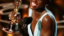 "Lupita Nyong'o, best supporting actress winner for her role in ""12 Years a Slave"", speaks on stage at the 86th Academy Awards in Hollywood, California March 2, 2014.  REUTERS/Lucy Nicholson (UNITED STATES TAGS: - Tags: ENTERTAINMENT TPX IMAGES OF THE DAY) (OSCARS-SHOW)"