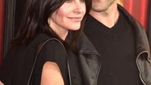 "Actress Courteney Cox (L) and musician Johnny McDaid arrive  premiere of HBO's ""The Comeback"""