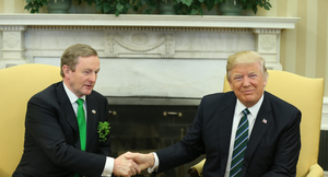 Taoiseach Enda Kenny with US President Donald Trump at the White House