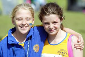 Ellie O' Toole and Kate Taylor from Co. Wicklow at the HSE Community Games in Athlone. Photo molloyphotography