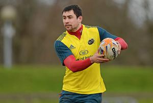 Munster's Felix Jones is one of the options available to Ireland coach Joe Schmidt a full-back