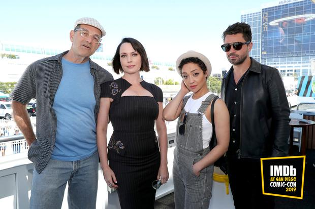 Mark Harelik, Julie Ann Emery, Ruth Negga and Dominic Cooper attend the #IMDboat at San Diego Comic-Con 2019: Day Two at the IMDb Yacht on July 19, 2019 in San Diego, California. (Photo by Rich Polk/Getty Images for IMDb)