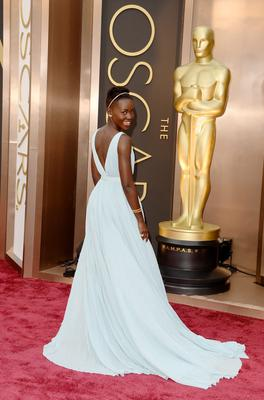 Actress Lupita Nyong'o attends the Oscars held at Hollywood & Highland Center on March 2, 2014 in Hollywood, California.  (Photo by Jason Merritt/Getty Images)