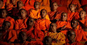 """The declaration by Wirathu, who once called himself """"the Burmese bin Laden"""", was the clearest signal to date of a push to spread the ideology of his controversial 969 movement beyond Myanmar to build a front against Islamist militancy. Reuters/Dinuka Liyanawatte"""