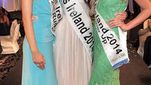 Left to right: 2nd Runner up Miss Louth Fionunuala Short Miss Ireland 2014 winner -Jessica Hayes  1st Runner up- Shannon Howe