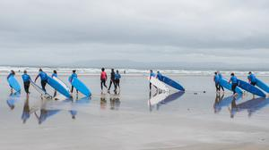 Surf's up at Rossnowlagh