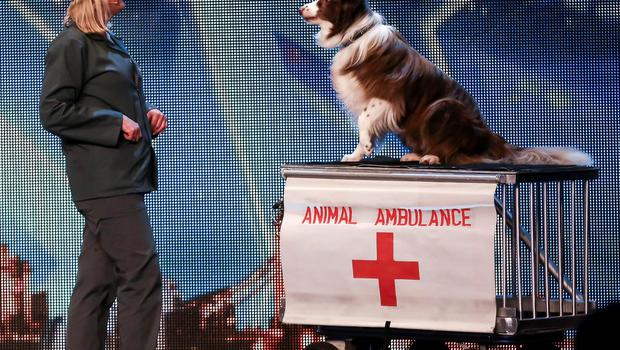 Jules O'Dwyer and Matisse, during the audition stage of ITV1 talent show, Britain's Got Talent (Tom Dymond/SYCO/THAMES TV/PA Wire)