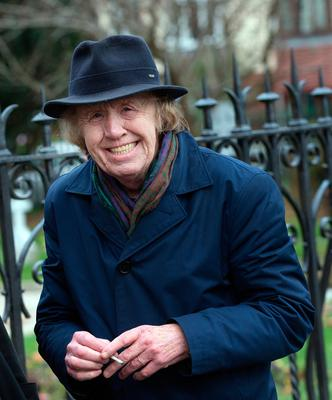 Smiley Bolger at the funeral of former Pogues manager Frank Murray in St Paul's Church, Mount Argus. Photo: Tony Gavin