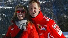 Michael Schumacher and his wife Corinna at the Madonna di Campiglio resort in 2005