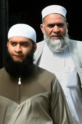 Mohammed Waqar, 23, (left) and his father Mohammed Siddique, 60, who are to be sentenced at Birmingham Crown Court today after pleading guilty to a charge of wilful cruelty to a child under the age of 16. Photo: Joe Giddens/PA Wire