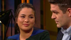 Billy and Lanlih Holland on The Late Late Show