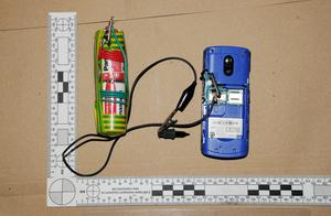 A booby trap found in Ryan McGee's bedroom. Photo: Greater Manchester Police/PA