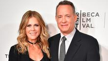 """Rita Wilson and Tom Hanks attend """"The Circle"""" Premiere at the BMCC Tribeca PAC on April 26, 2017 in New York City.  (Photo by Theo Wargo/Getty Images for Tribeca Film Festival)"""