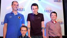 Alan Hawe is pictured with his sons Ryan (6), Liam (13), and Niall (11).