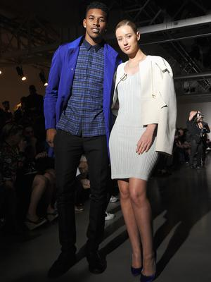 Nick Young and Iggy Azalea attend the Calvin Klein show during Milan Menswear Fashion Week Spring Summer