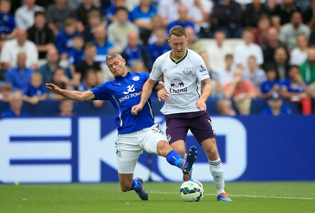 Everton manager Roberto Martinez is sure Aiden McGeady is now ready to step up and demonstrate what he is capable of at Premier League level. Photo: Nick Potts/PA Wire