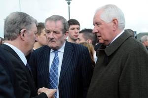 Eugene McGee with Dubs legends Jimmy Keaveney and Paddy Cullen