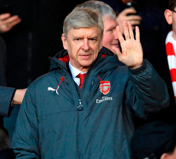 A great manager exits the stage in Arsene Wenger, but the show must go on for Arsenal. Photo: Mike Egerton/PA Wire.