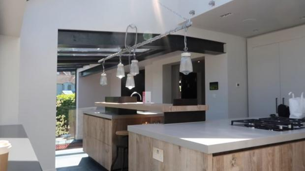 The kitchen of the Brighton home Zoella has moved into with partner Alfie Deyes