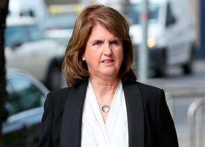 Former tanaiste Joan Burton arrives at court to give evidence. Photo: Collins Courts