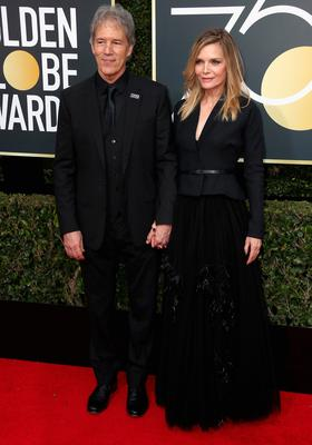 BEVERLY HILLS, CA - JANUARY 07:  David E. Kelley and Michelle Pfeiffer attend The 75th Annual Golden Globe Awards at The Beverly Hilton Hotel on January 7, 2018 in Beverly Hills, California.  (Photo by Frederick M. Brown/Getty Images)