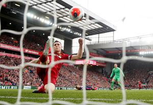 Liverpool's James Milner clears the ball off the line to help secure their 2-1 win over Bournemouth  Action Images via Reuters/Carl Recine