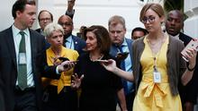 Taking action: Speaker of the House Nancy Pelosi walks to a meeting with the House Democratic caucus. PHOTO: MARK WILSON/GETTY IMAGES