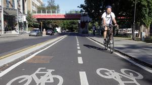 The right road: Cycle paths are going to be more common in our towns and cities. Photo: Garrett White