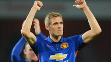 Manchester United substitute Darren Fletcher was involved in a heated exchange with fans behind the opposition bench following the incident. Michael Regan/Getty Images