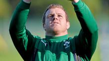 Ireland's Sean Cronin during squad training ahead of their Guinness Series International game against Samoa on Saturday