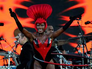 Ready to rock 'n' roll: Grace Jones will take centre state at the Electric Picnic while other headline acts include the Boomtown Rats, Blur Florence and the Machine and our very own Roisin Murphy.