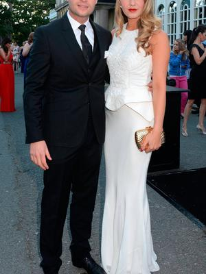 Aoibhin Garrihy and John Burke  at the 39th Rehab Person of The Year Awards 2013