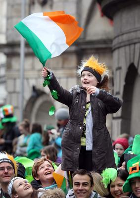 Abigale  Maguire from Kentstown Co Meath pictured at  the St Patrick's day parade in Dublin