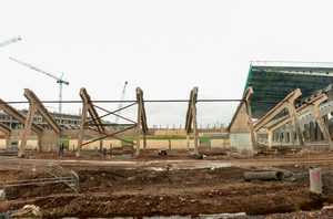 A view of the refurbishment work taking place at Páirc Ui Chaoimh from September last year. Photo by Eóin Noonan/Sportsfile