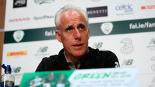 Ireland manager Mick McCarthy is pictured today during a press conference at the FAI National Training Centre in Abbotstown, Dublin. Photo: Stephen McCarthy/Sportsfile