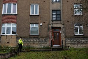 Police search a house on Dorchester avenue Glasgow that missing Irish student Karen Buckley may have gone after leaving the Sanctuary nightclub on Dumbarton Road, Glasgow.