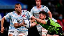 Kurtley Beale of Racing 92 is tackled by Conor Oliver of Connacht