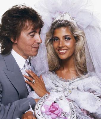Former Rolling Stones bassist Bill Wyman and Mandy Smith at their wedding reception in 1989, he was 49 and she was 18