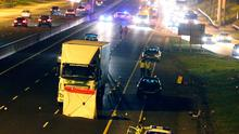 The scene of an serious accident at Junction 4 Ballymun Northbound. Picture credit; Damien Eagers