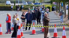 Queues for the reopening of the IKEA store in Ballymun.Picture Credit:Frank McGrath 8/6/20