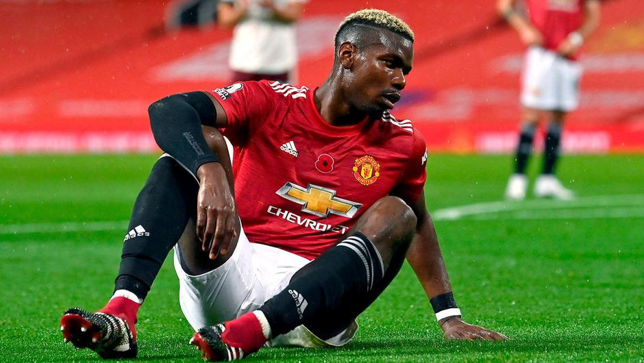 Turning point: Manchester United midfielder Paul Pogba reacts after conceding a penalty against Arsenal. Photo: PA