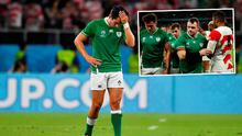 A dejected Joey Carbery and (inset) Cian Healy