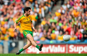 Donegal's Ryan McHugh finds the net against Galway (Photo: Sportsfile)