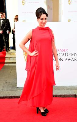 Gizzi Erskine arrives for the House of Fraser British Academy of Television Awards at the Theatre Royal, Drury Lane in London. PRESS ASSOCIATION Photo. Picture date: Sunday May 10, 2015. See PA story SHOWBIZ Bafta. Photo credit should read: Ian West/PA Wire