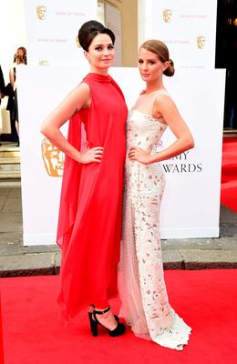 Gizzi Erskine (left) and Millie Mackintosh arrive for the House of Fraser British Academy of Television Awards at the Theatre Royal, Drury Lane in London. PRESS ASSOCIATION Photo. Picture date: Sunday May 10, 2015. See PA story SHOWBIZ Bafta. Photo credit should read: Ian West/PA Wire