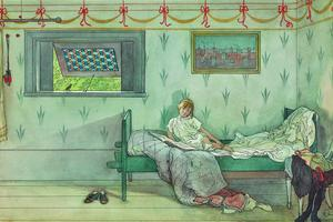 Carl Larsson's 'Cock-a-doodle-do' which along with, 'It's seven o'clocki and iSay Hello to the Gentleman!', is estimated to fetch between £150,000 and £200,000 (€168,000 and €225,000) each