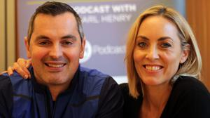 Karl Henry pictured with this week's guest, Katherine Thomas