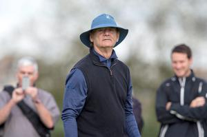 Bill Murray on the 12th hole at Carnoustie, Scotland. Photo: Kenny Smith/PA Wire.